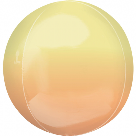 Ombre Yellow/Orange ORBZ Helium Foil Balloon